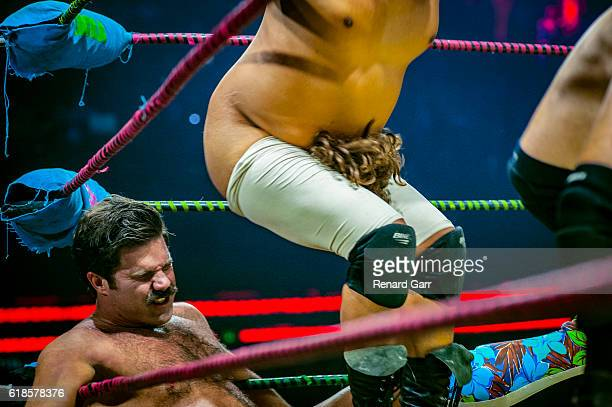 Joey Ryan and Dirty Sanchez at Mayan Theater on October 26 2016 in Los Angeles California