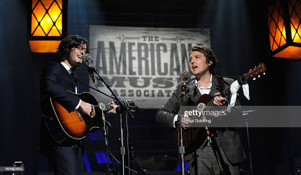 Joey Ryan and Kenneth Pattengale of perform during the 12th Annual Americana Music Honors And Awards Ceremony Presented By Nissan on September 18, 2013 in Nashville, Tennessee.
