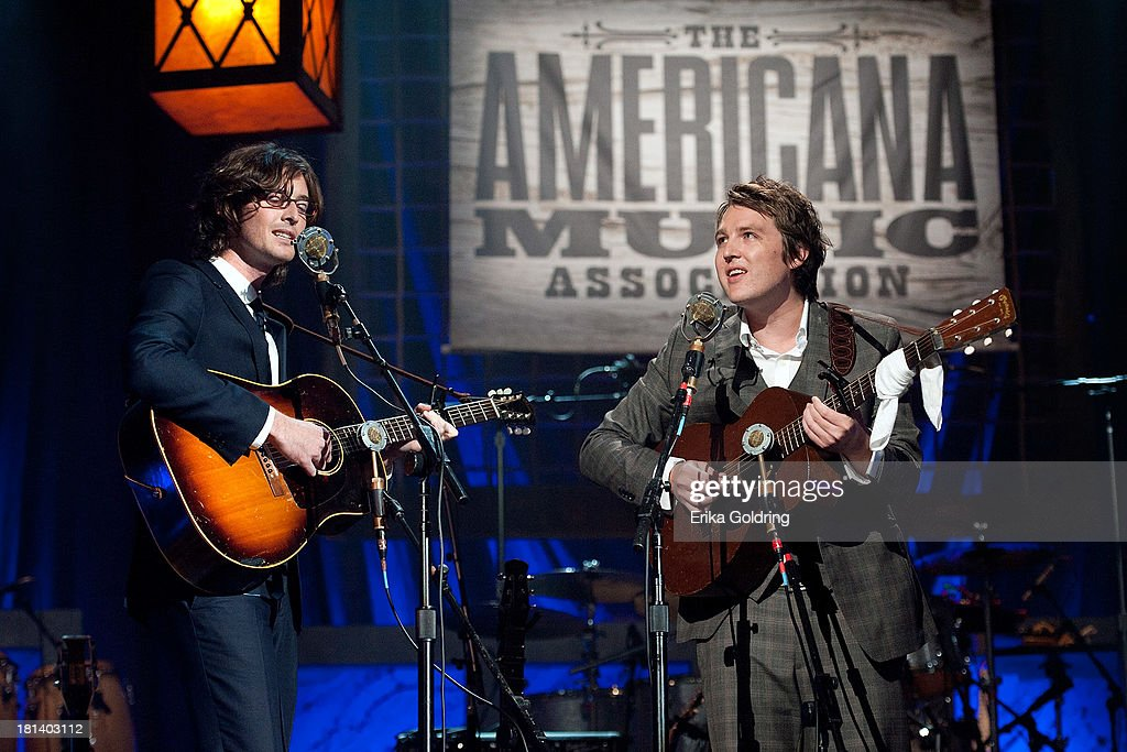 Joey Ryan and Kenneth Pattengale of The Milk Carton Kids perform during the 12th Annual Americana Music Honors And Awards Ceremony Presented By Nissan on September 18, 2013 in Nashville, United States.