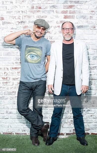 Joey Santiago and David Lovering of the The Pixies are photographed for Paris Match on April 22 2014 in Paris France