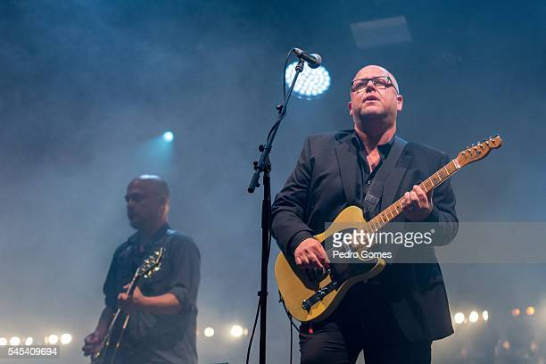 Joey Santiago and Frank Black of The Pixies perform on the main stage at NOS Alive festival on July 7 2016 in Lisboa CDP Portugal