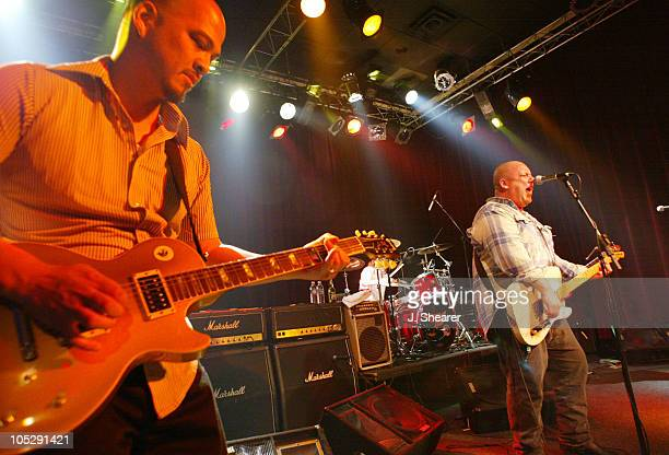 Joey Santiago and Frank Black of The Pixies performing their first show in 12 years