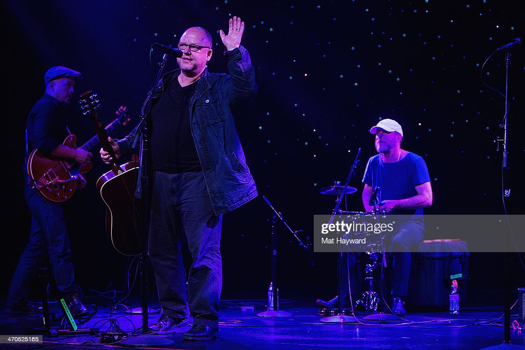 <a gi-track='captionPersonalityLinkClicked' href=/galleries/search?phrase=Joey+Santiago&family=editorial&specificpeople=241220 ng-click='$event.stopPropagation()'>Joey Santiago</a>, Black Francis and David Lovering of the Pixies perform on stage during an EndSession hosted by 107.7 The End at the Triple Door Theater on February 19, 2014 in Seattle, Washington.