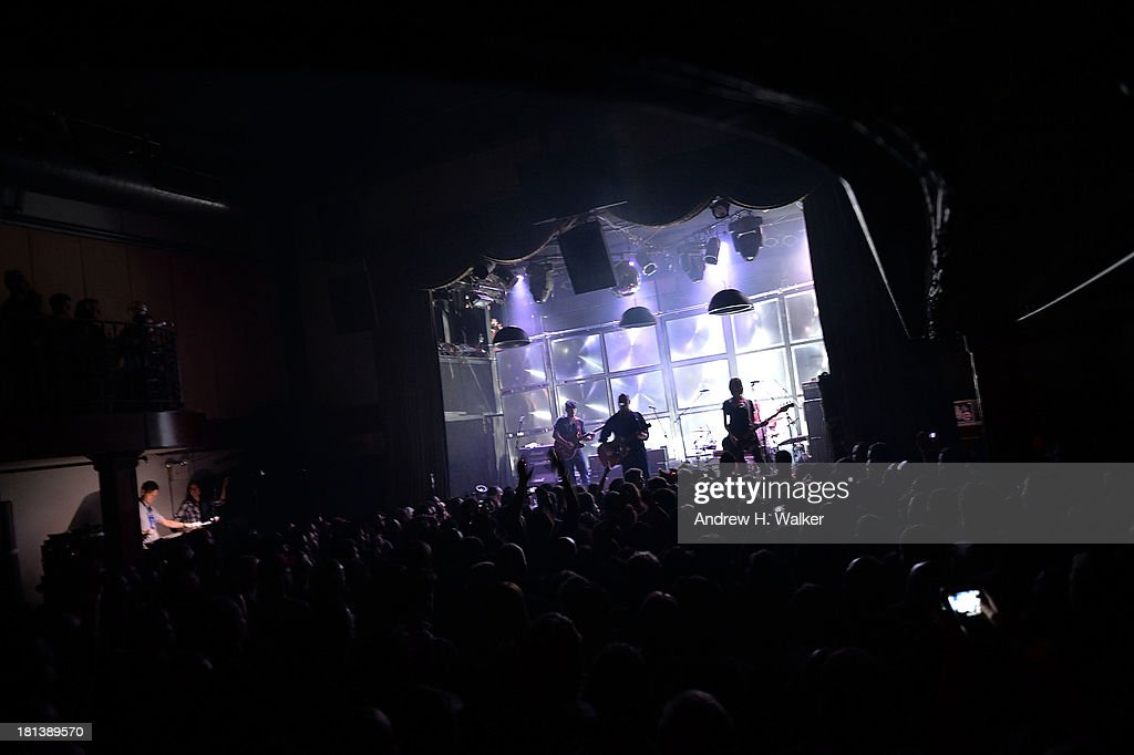 Joey Santiago Black Francis David Lovering and Kim Shattuck of the Pixies perform at The Bowery Ballroom on September 20 2013 in New York City