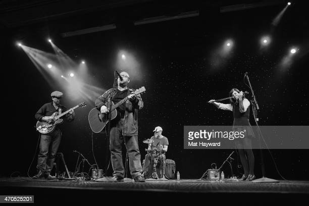 Joey Santiago Black Francis David Lovering and Paz Lenchantin of the Pixies perform on stage during an EndSession hosted by 1077 The End at the...
