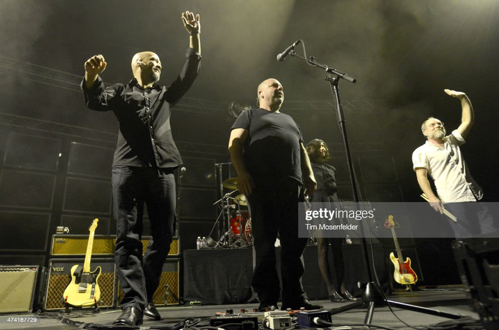 Joey Santiago Black Francis Paz Lenchantin and David Lovering perform at The Fox Theatre on February 21 2014 in Oakland California