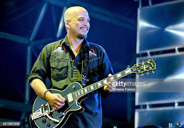 Joey Santiago of Pixies performs headlining Summer In The City at Castlefield Bowl on July 10 2014 in Manchester England