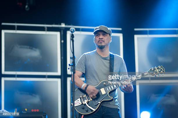 Joey Santiago of Pixies performs on stage during Rock In Idro Day 4 at Arena Joe Strummer on June 2 2014 in Bologna Italy