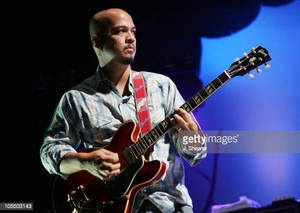 Joey Santiago of The Pixies during The Pixies in Concert September 23 2004 at Greek Theatre in Los Angeles California United States