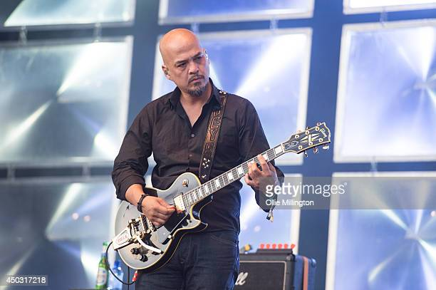 Joey Santiago of The Pixies performs on stage at Field Day Festival at Victoria Park on June 8 2014 in London United Kingdom