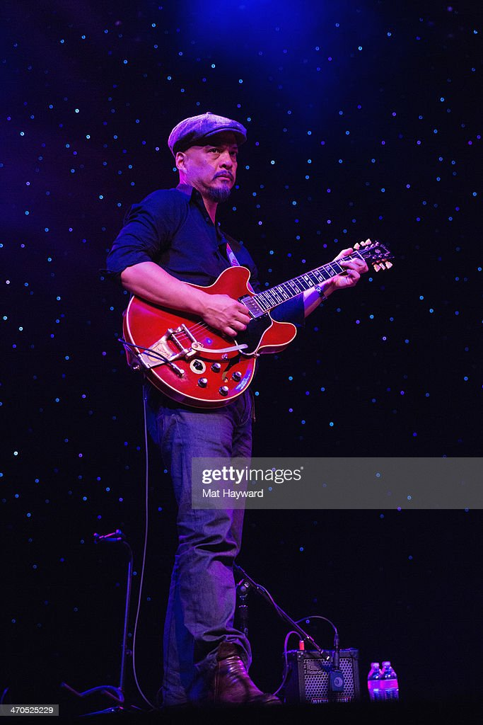 <a gi-track='captionPersonalityLinkClicked' href=/galleries/search?phrase=Joey+Santiago&family=editorial&specificpeople=241220 ng-click='$event.stopPropagation()'>Joey Santiago</a> of the Pixies performs on stage during an EndSession hosted by 107.7 The End at the Triple Door Theater on February 19, 2014 in Seattle, Washington.