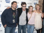 Joey Scoleri of Live Nation Charlie Sheen Bree Olson and Natalie Kenly attend the Charlie Sheen My Violent Torpedo Of Truth Tour Official After Party...