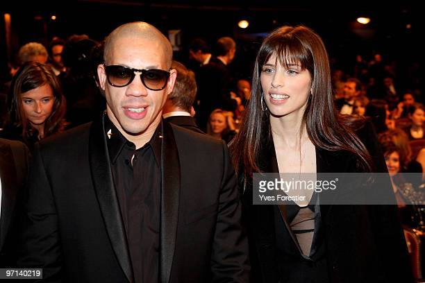 Joey Starr and director Maiwenn the 35th Cesar Film Awards held at Theatre du Chatelet on February 27 2010 in Paris France