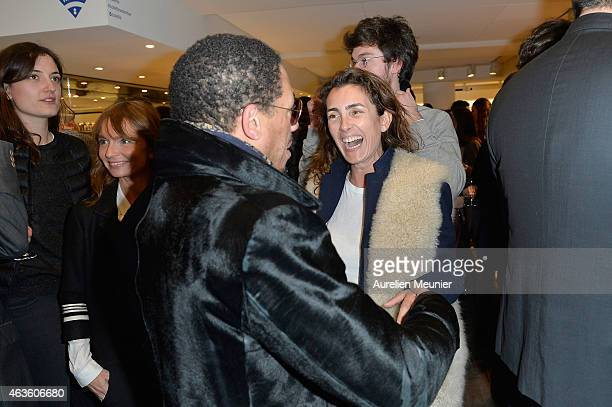 Joey Starr and Mademoiselle Agnes attend the 'Phantom L'Implosive Sound Center De Devialet' cocktail launch at Colette on February 16 2015 in Paris...