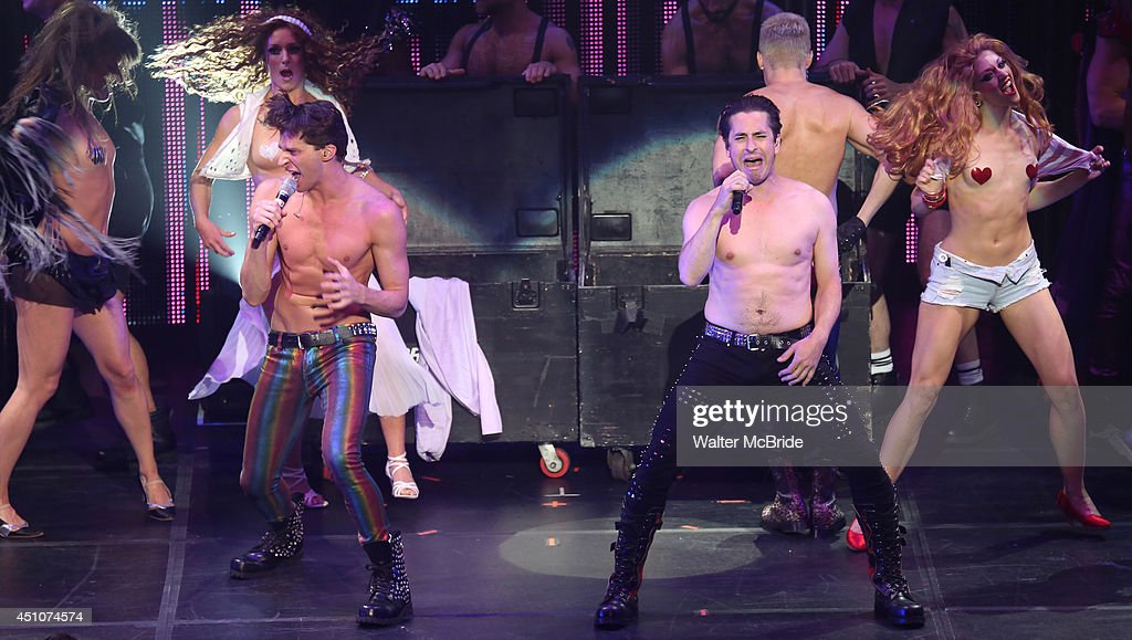 Joey Taranto and Matthew Saldivar perform in the Broadway Cares/Equity Fights AIDS' Broadway Bares 24 'Rock Hard!' at Hammerstein Ballroom on June 22, 2014 in New York City.