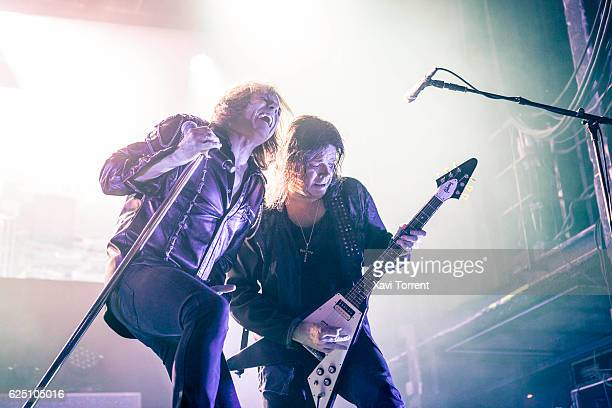 Joey Tempest and John Norum of Europe perform in concert at Sala Razzmatazz on November 22 2016 in Barcelona Spain