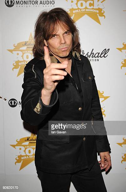 Joey Tempest from Europe attends the Classic Rock Roll Of Honour Awards at the Park Lane Hotel on November 2 2009 in London England