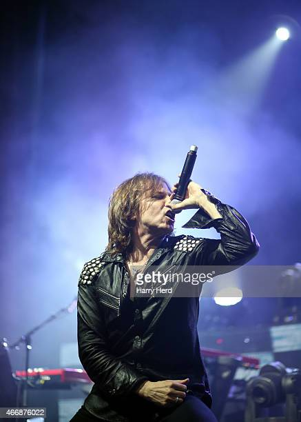 Joey Tempest of Europe performs at Bournemouth O2 Academy at Hammersmith on March 18 2015 in London England