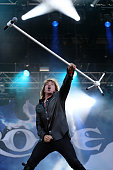 Joey Tempest of Europe performs at Ramblin Man Fair at Mote Park on July 23 2016 in Maidstone England