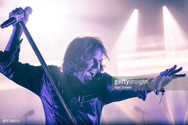Joey Tempest of Europe performs in concert at Sala Razzmatazz on November 22 2016 in Barcelona Spain