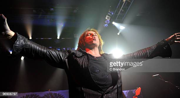 Joey Tempest of Europe performs on stage at Shepherds Bush Empire on February 20 2010 in London England
