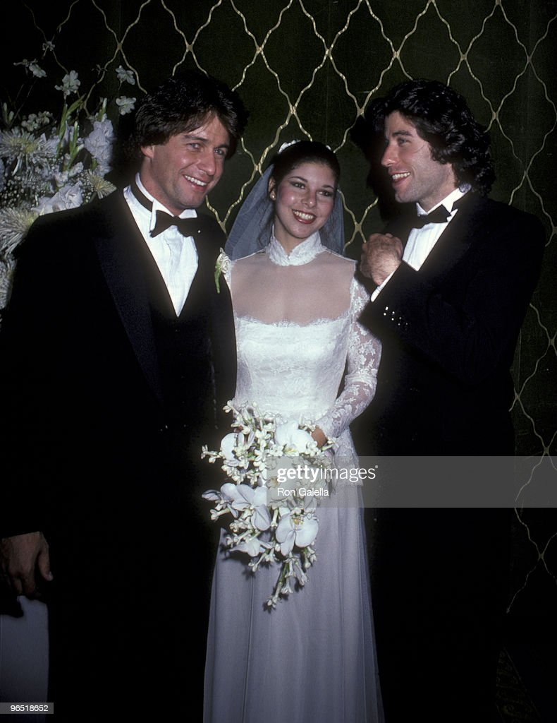 Joey Travolta, Wendy Shawn and actor John Travolta attend Joey Travolta-Wendy Shawn Wedding Reception on May 3, 1980 at the Waldorf Hotel in New York City.