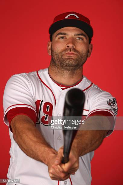 Joey Votto of the Cincinnati Reds poses for a portait during a MLB photo day at Goodyear Ballpark on February 18 2017 in Goodyear Arizona