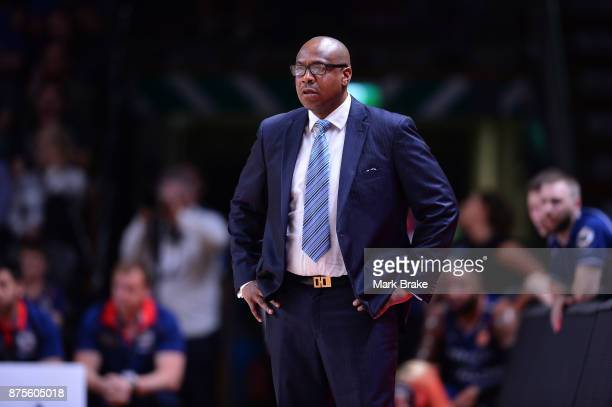 Joey Wright coach of the 36ers during the round seven NBL match between Adelaide 36ers and the Sydney Kings at Titanium Security Arena on November 18...