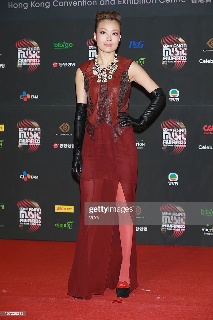 <a gi-track='captionPersonalityLinkClicked' href=/galleries/search?phrase=Joey+Yung&family=editorial&specificpeople=798867 ng-click='$event.stopPropagation()'>Joey Yung</a> arrives at the red carpet of the 2012 Mnet Asian Music Awards at Hong Kong Convention & Exhibition Center on November 30, 2012 in Hong Kong, China.