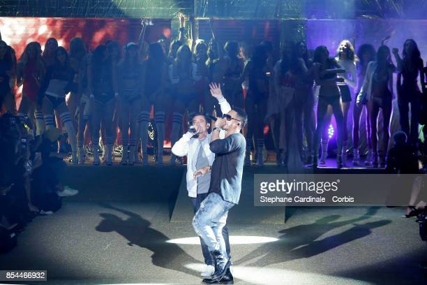 JoeyStarr and Kool Shen of NTM perform during the Etam Spring Summer 2018 show as part of Paris Fashion Week at on September 26 2017 in Paris France