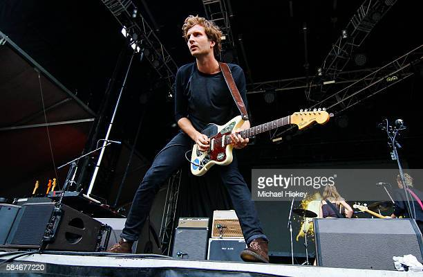 Joff Oddie of the band Wolf Alice is seen at Lollapalooza on July 29 2016 in Chicago Illinois
