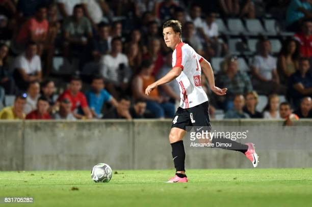 Joffrey Cuffaut of Nancy during the Ligue 2 match between Nimes Olympique and As Nancy Lorraine at Stade des Costieres on August 14 2017 in Nimes