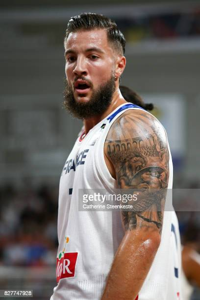 Joffrey Lauvergne of France looks on during the international friendly game between France and Croatia at Palais des Sports on August 8 2017 in...