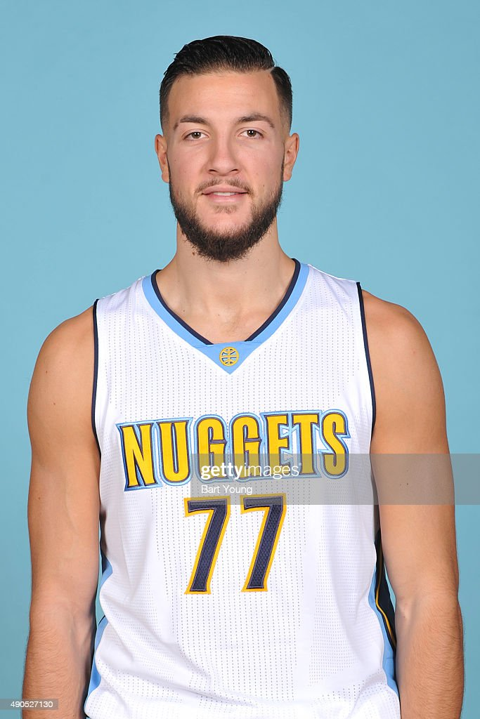 <a gi-track='captionPersonalityLinkClicked' href=/galleries/search?phrase=Joffrey+Lauvergne&family=editorial&specificpeople=6828069 ng-click='$event.stopPropagation()'>Joffrey Lauvergne</a> #77 of the Denver Nuggets poses for a head shot on September 28, 2015 at the Pepsi Center in Denver, Colorado.