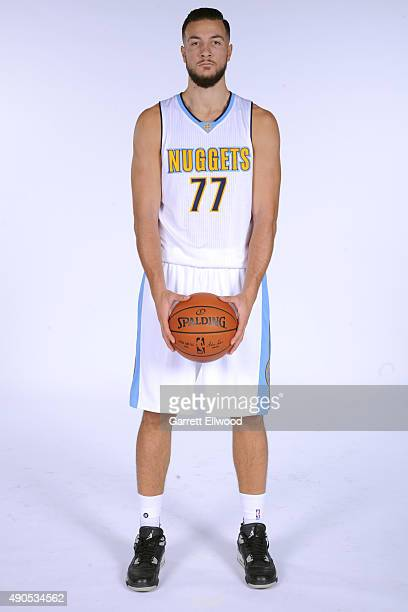 Joffrey Lauvergne of the Denver Nuggets poses for a portrait on September 28 2015 at the Pepsi Center in Denver Colorado NOTE TO USER User expressly...