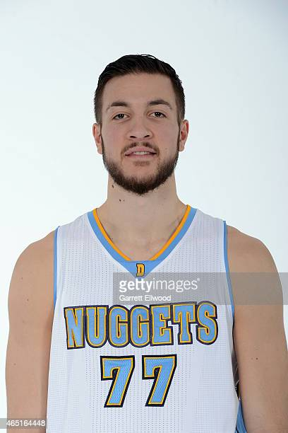 Joffrey Lauvergne of the Denver Nuggets poses for photos on March 2 2015 at the Pepsi Center in Denver Colorado NOTE TO USER User expressly...