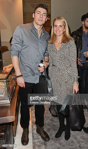 Joffrey Lupul and Bronwen Evans Managing Director of the True Patriot Love Foundation attend The David Yurman Toronto Grand Opening event on January...