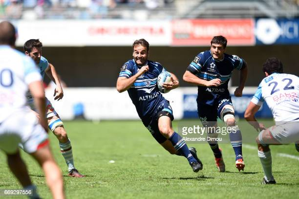 Joffrey Michel of Montpellier during the Top 14 match between Montpellier and Bayonne on April 16 2017 in Montpellier France