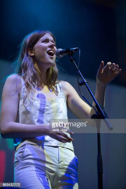 Jofriour Akadottir of Samaris performs on stage during BAM 2017 Day 3 at Placa dels Angels on September 24 2017 in Barcelona Spain
