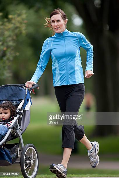 Jogger and Baby