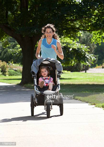 Jogger and Child