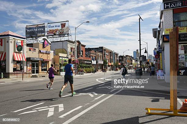 Joggers on Bloor Street, Open Streets TO Event, Toronto, Canada