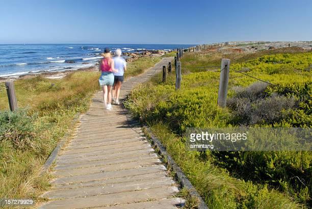 Jogging at Spanish Bay