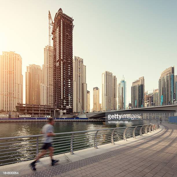 Jogging in dubai marina