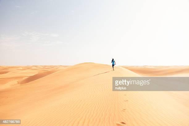 jogging in the desert