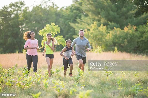 Jogging Through a Grassy Field