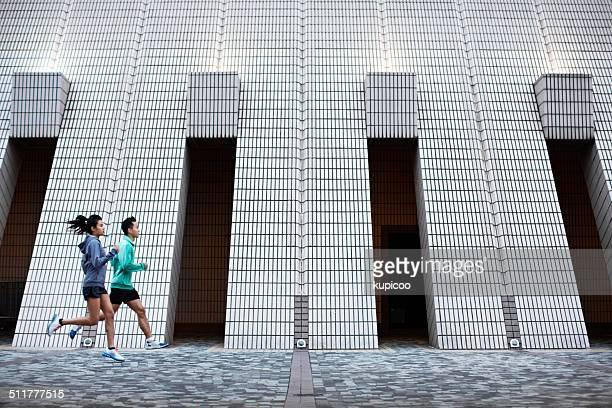 Jogging through the urban landscape