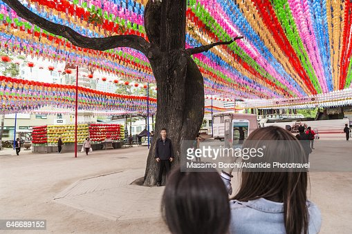 Jogyesa Temple, the temple during the the Lotus Lantern Festival : Stockfoto