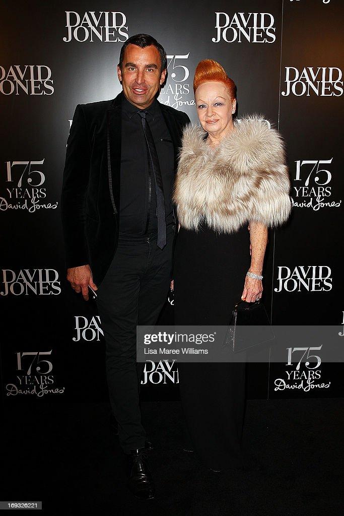 Joh Bailey and Suzanna Pritchard attend the David Jones 175 year celebration at David Jones on May 23, 2013 in Sydney, Australia.