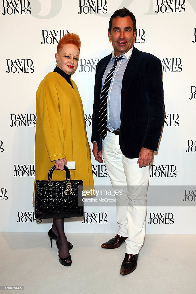 <a gi-track='captionPersonalityLinkClicked' href=/galleries/search?phrase=Joh+Bailey&family=editorial&specificpeople=605032 ng-click='$event.stopPropagation()'>Joh Bailey</a> arrives at the David Jones Spring/Summer 2013 Collection Launch at David Jones Elizabeth Street on July 31, 2013 in Sydney, Australia.